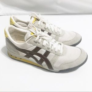 Oniksuka Tiger by Asics White Yellow Brown